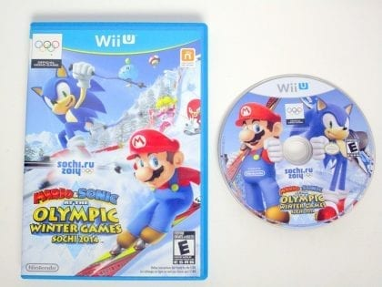 Mario & Sonic at the Sochi 2014 Olympic Games game for Nintendo Wii U -Game&Case