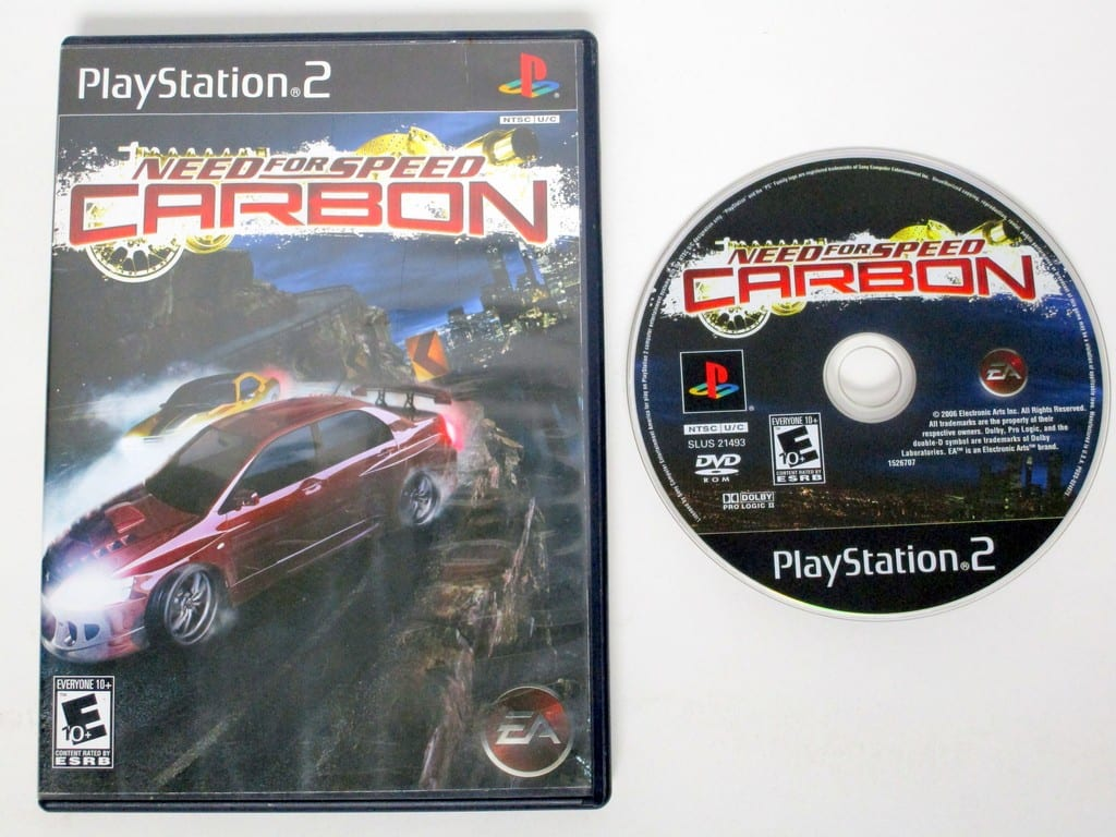 Need for Speed Carbon game for Sony Playstation 2 PS2 -Game & Case