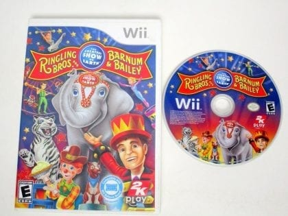 Ringling Bros. and Barnum & Bailey Circus game for Nintendo Wii -Game & Case