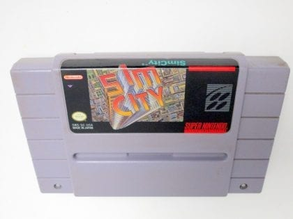 SimCity game for Super Nintendo SNES - Loose