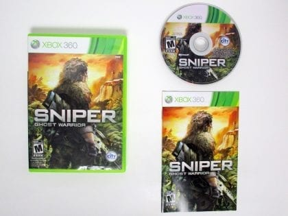 Sniper: Ghost Warrior game for Microsoft Xbox 360 -Complete