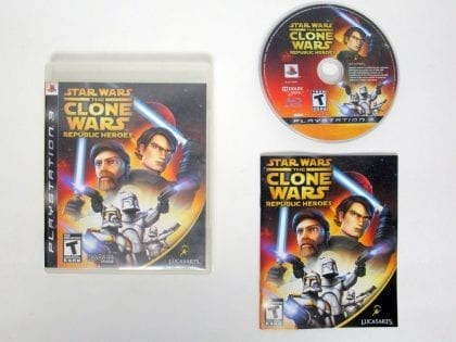 Star Wars Clone Wars: Republic Heroes game for Sony Playstation 3 PS3 -Complete
