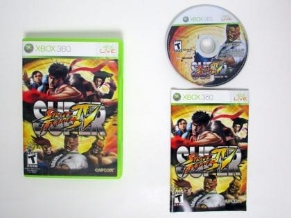 Super Street Fighter IV game for Microsoft Xbox 360 -Complete