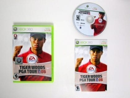 Tiger Woods 2006 game for Microsoft Xbox 360 -Complete