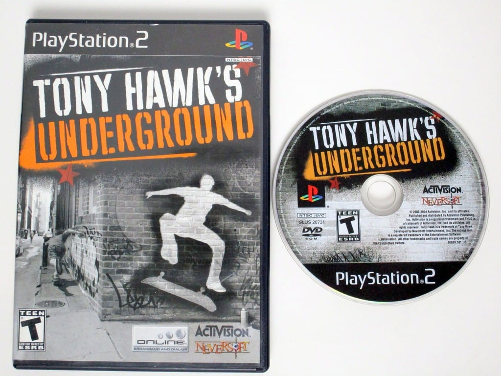 Tony hawk game for ps2 | Tony Hawk Underground (PS2): Young Red