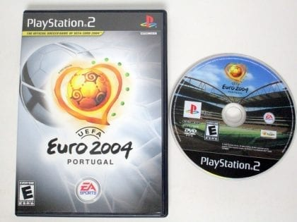 UEFA Euro 2004 game for Sony Playstation 2 PS2 -Game & Case