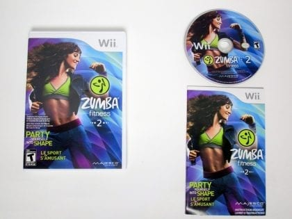 Zumba Fitness 2 game for Nintendo Wii -Complete