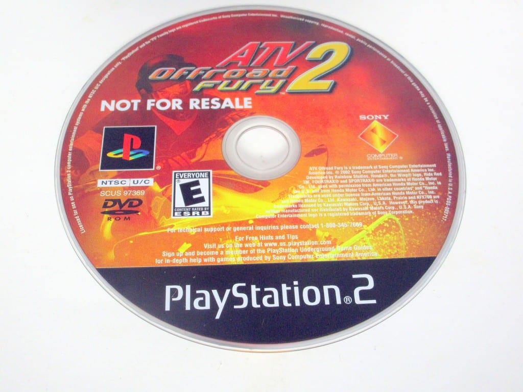ATV Offroad Fury 2 game for Sony PlayStation 2 -Loose