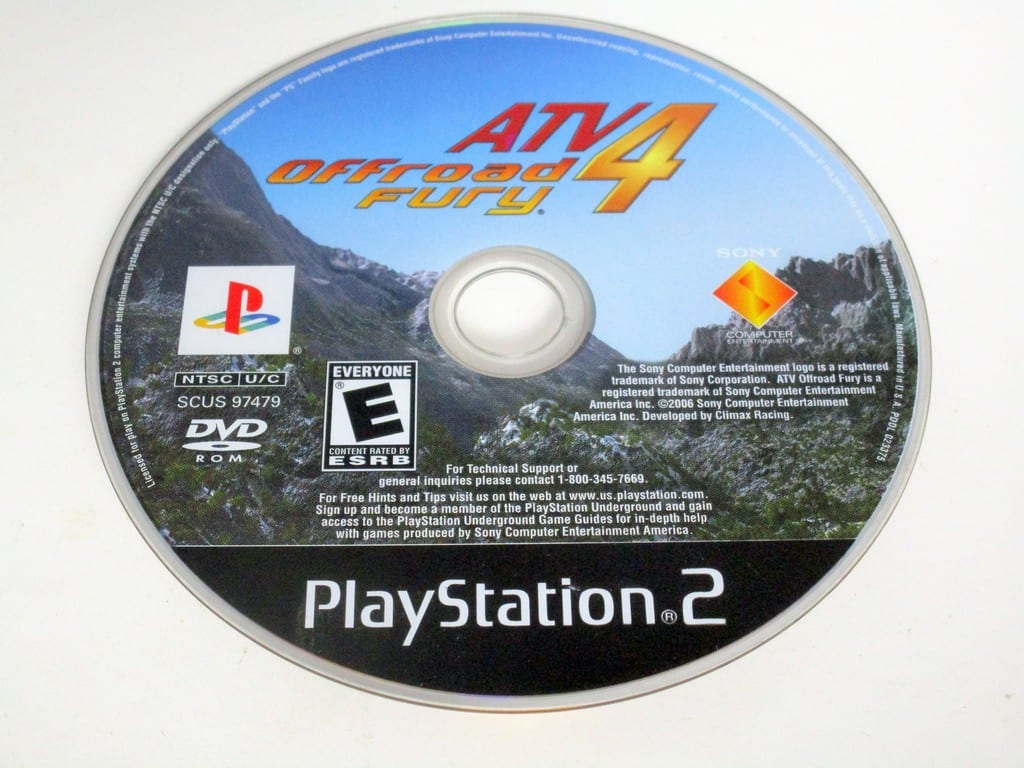 ATV Offroad Fury 4 game for Sony PlayStation 2 -Loose