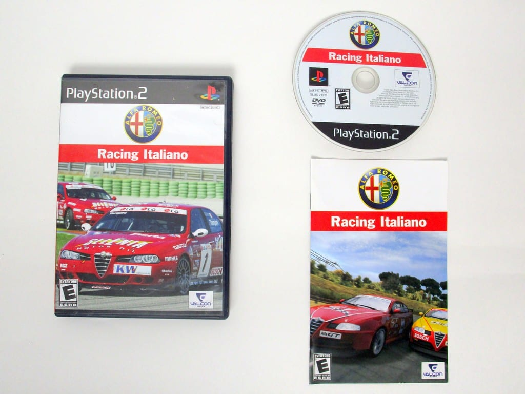 Alfa Romeo Racing Italiano game for Sony PlayStation 2 -Complete