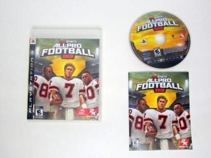 All Pro Football 2K8 game for Sony PlayStation 3 -Complete