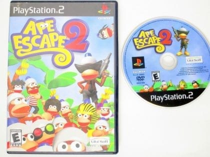 Ape Escape 2 game for Sony PlayStation 2 -Game & Case