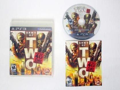 Army of Two: The 40th Day game for Sony PlayStation 3 -Complete