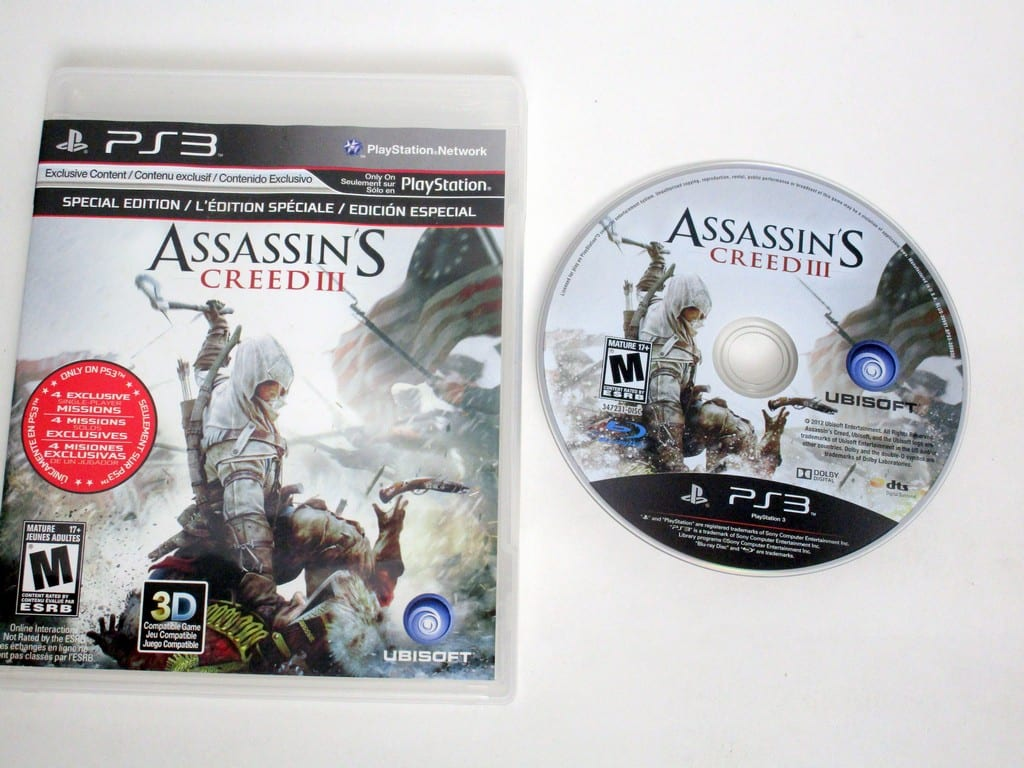 Assassin's Creed III game for Sony PlayStation 3 -Game & Case