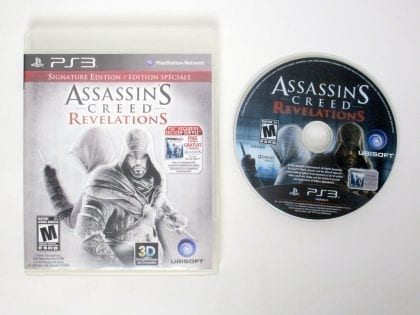 Assassin's Creed Revelations: Signature Edition game for Sony PlayStation 3 -Game & Case