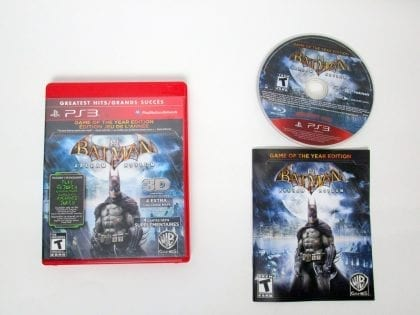 Batman: Arkham Asylum Game of the Year Edition game for Sony PlayStation 3 -Complete