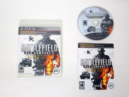 Battlefield: Bad Company 2 Ultimate Edition game for Sony PlayStation 3 -Complete