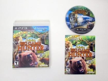 Cabela's Big Game Hunter 2012 game for Sony PlayStation 3 -Complete