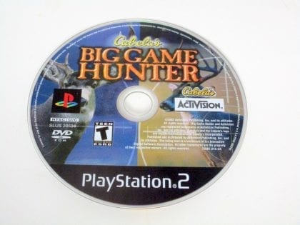 Cabela's Big Game Hunter game for Sony PlayStation 2 -Loose