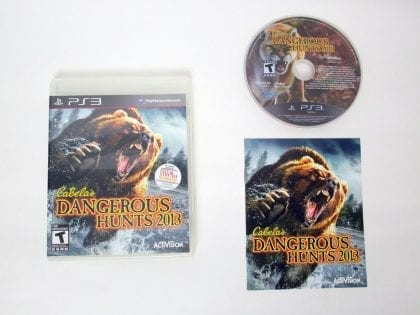 Cabela's Dangerous Hunts 2013 game for Sony PlayStation 3 -Complete