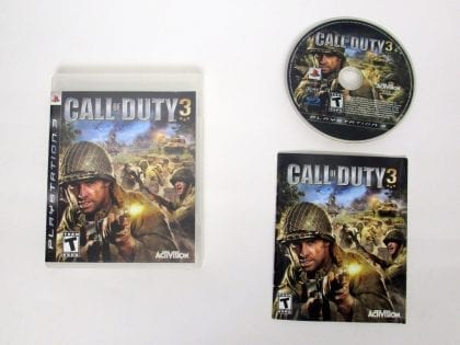 Call of Duty 3 game for Sony PlayStation 3 -Complete