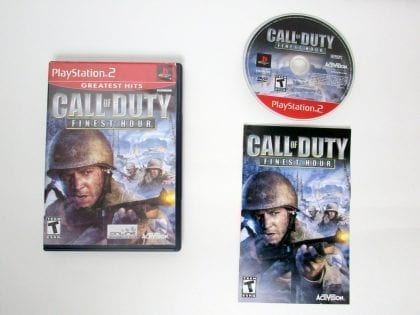 Call of Duty Finest Hour game for Sony PlayStation 2 -Complete
