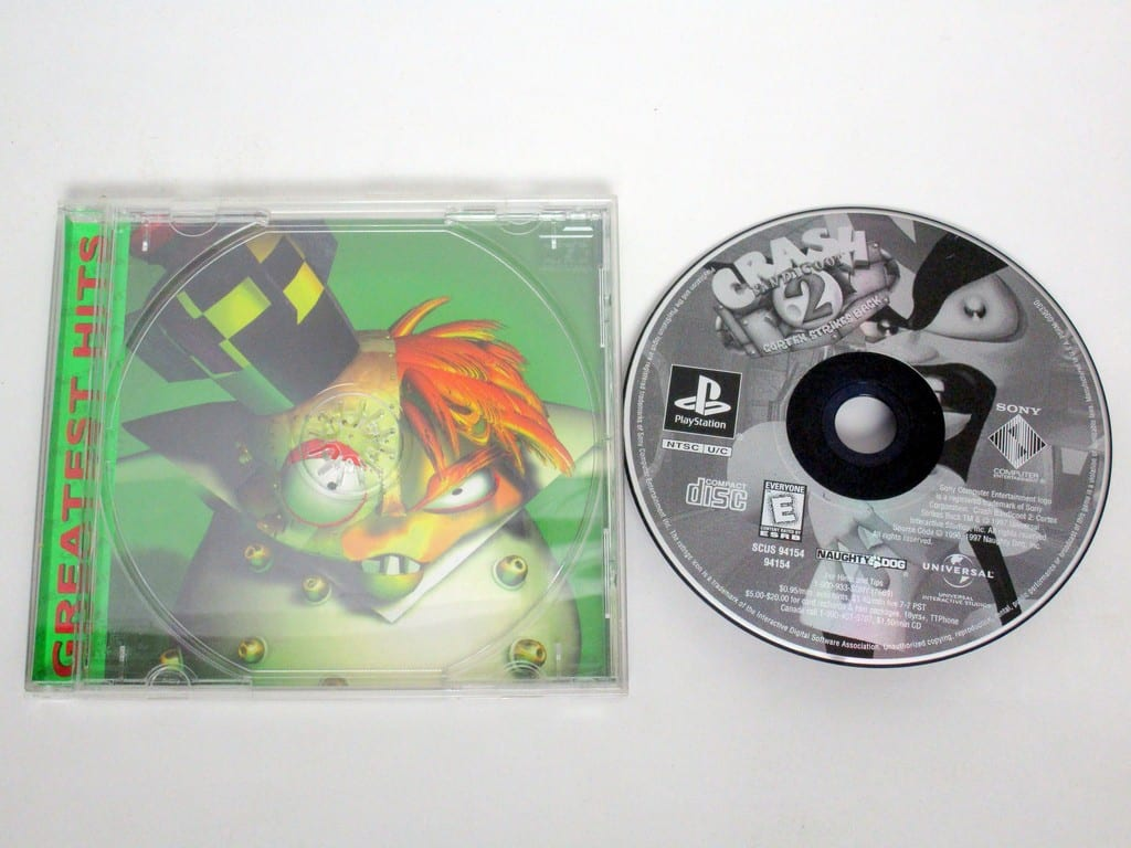 Crash Bandicoot 2 Cortex Strikes Back game for Sony PlayStation 1 -Game & Case