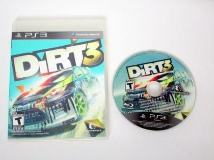 Dirt 3 game for Sony PlayStation 3 -Game & Case