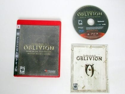 Elder Scrolls IV Oblivion Game of the Year game for Sony PlayStation 3 -Complete