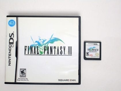 Final Fantasy III game for Nintendo DS -Game & Case