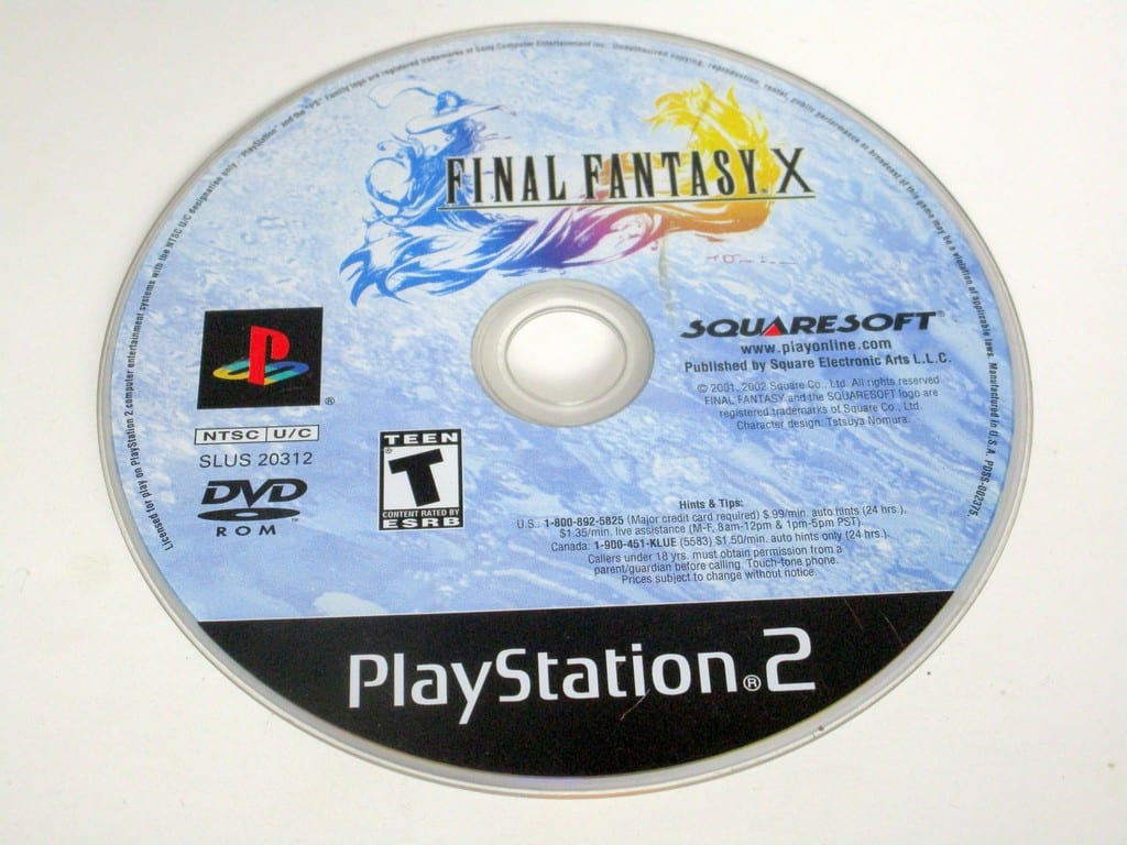 Final Fantasy X 10 game for Sony PlayStation 2 -Loose