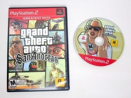 Grand Theft Auto San Andreas Greatest Hits game for Sony PlayStation 2 -Game & Case