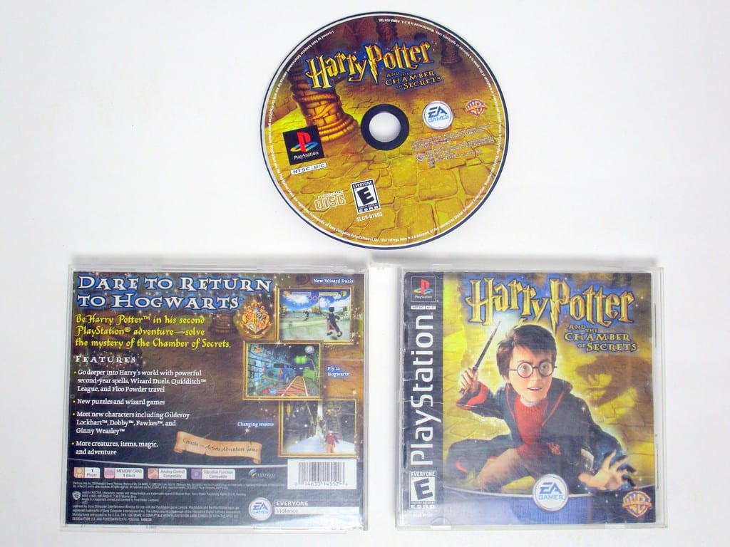 Harry Potter Chamber of Secrets game for Sony PlayStation 1 -Complete