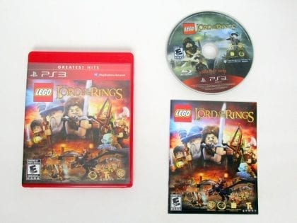 LEGO Lord Of The Rings game for Sony PlayStation 3 -Complete