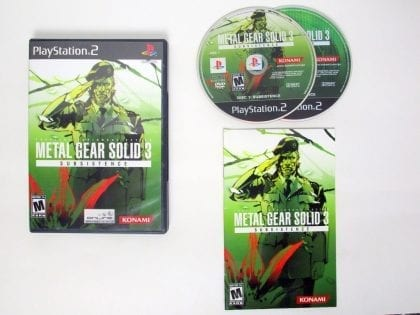 Metal Gear Solid 3 Subsistence game for Sony PlayStation 2 -Complete