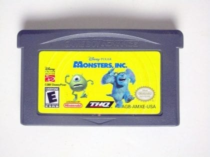 Monsters Inc game for Nintendo Game Boy Advance -Loose