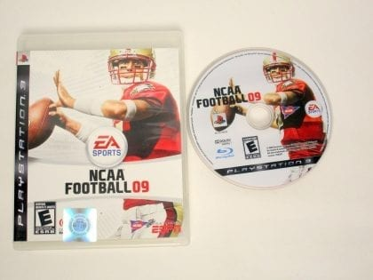 NCAA Football 09 game for Sony PlayStation 3 -Game & Case
