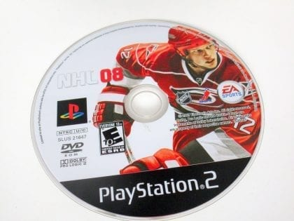 NHL 08 game for Sony PlayStation 2 -Loose