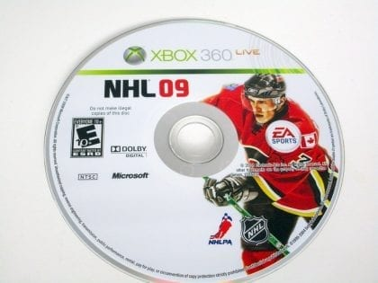 NHL 09 game for Microsoft Xbox 360 -Loose