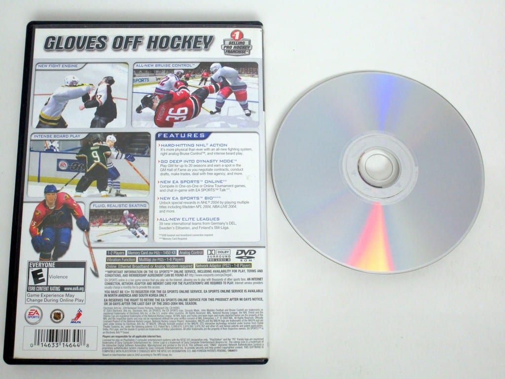 NHL 2004 game for Sony PlayStation 2 -Game & Case