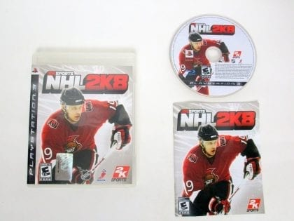 NHL 2K8 game for Sony PlayStation 3 -Complete