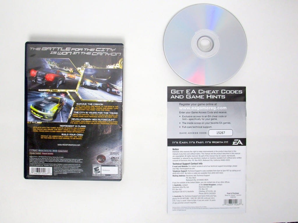 Need for Speed Carbon game for Sony PlayStation 2 -Complete