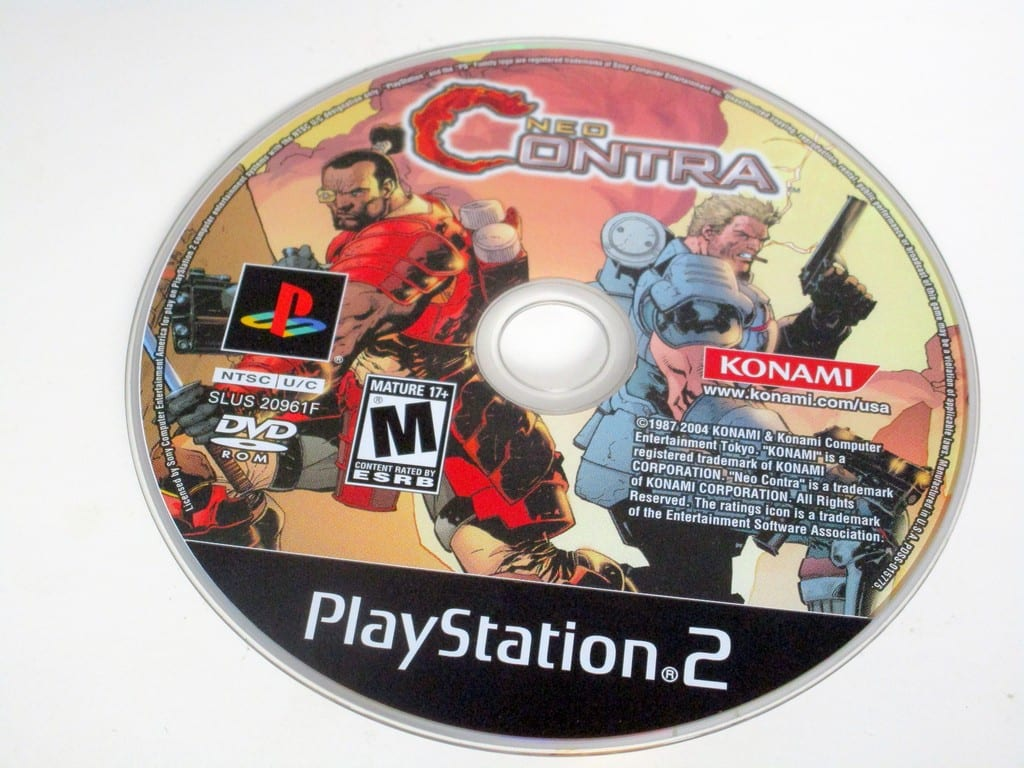 Neo Contra game for Sony PlayStation 2 -Loose