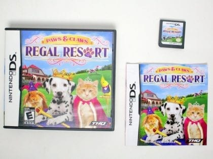 Paws & Claws Regal Resort game for Nintendo DS -Complete