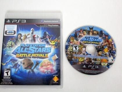 Playstation All-Star Battle Royale game for Sony PlayStation 3 -Game & Case