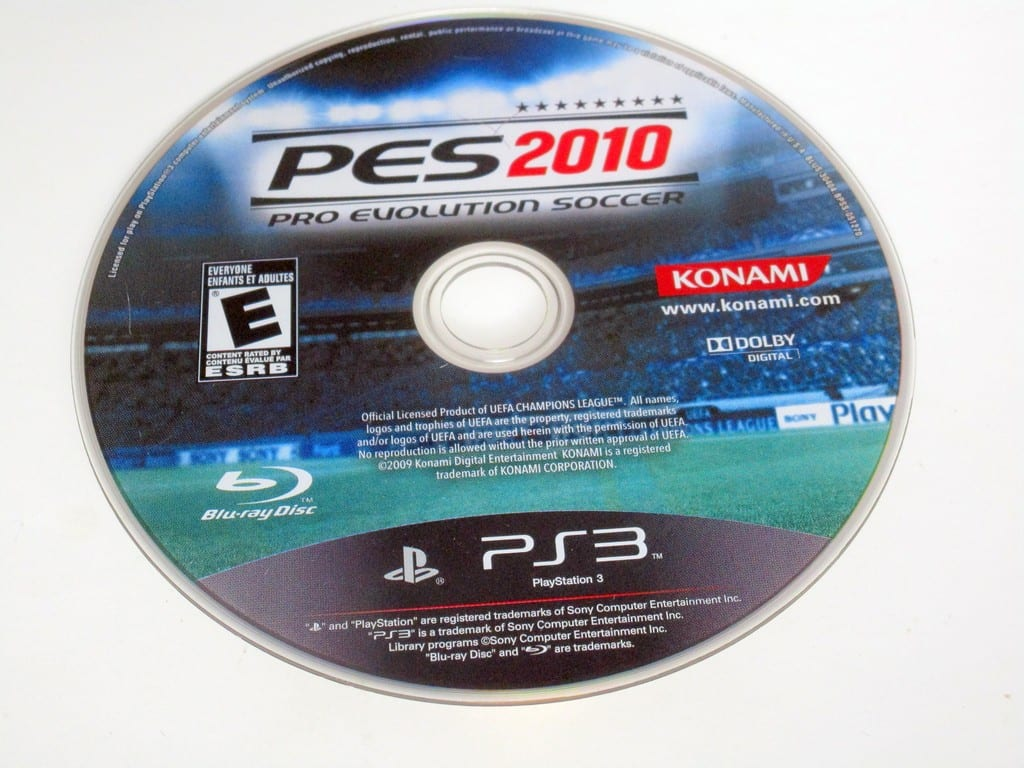 Pro Evolution Soccer 2010 game for Sony PlayStation 3 -Loose