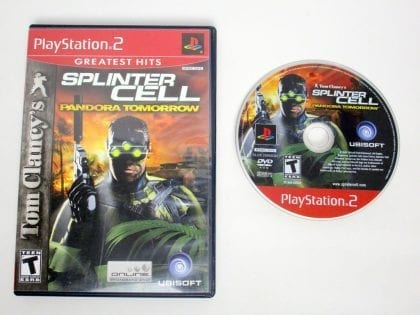 Splinter Cell Pandora Tomorrow game for Sony PlayStation 2 -Game & Case