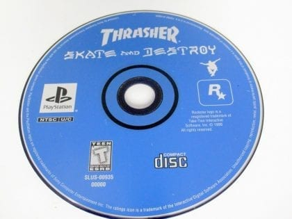 Thrasher Skate and Destroy game for Sony PlayStation 1 -Loose