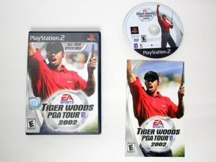 Tiger Woods 2002 game for Sony PlayStation 2 -Complete