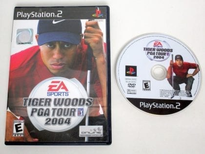 Tiger Woods 2004 game for Sony PlayStation 2 -Game & Case